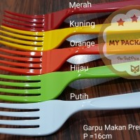 Garpu Makan Premium Warna (warna per pack isi 100pcs)