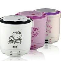 Jual Rice cooker mini 2 susun hello kitty slow warmer nasi bubur Murah