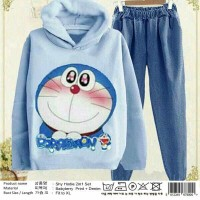 Jual 03  SHY HOODIE 2IN1 SET DENIM JOGGER Murah