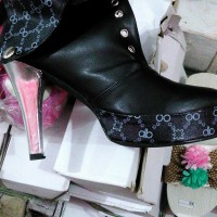 Heeled boots kancing1 lipat Myumiwshop