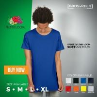 Jual Kaos Fruit of The Loom Premium size S - XL ( GROSIR / MURMER ) Murah