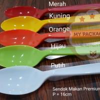 Sendok Makan Premium Warna (per warna isi 100pcs/pack)