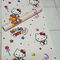 Jual (Murah) Wallpaper Sticker 10 meter Hello Kitty Murah