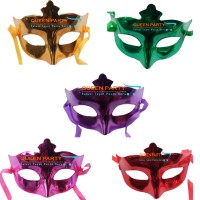 Topeng pesta polos/ wajah/ Party Mask metalik/ Masquerade Mask / ultah