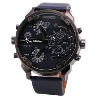 Jual Oulm Jam Tangan Analog Leather Strap- 3548 - Black  Murah