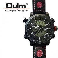 Jual Oulm Jam Tangan Analog - HP3558 - Black/Red  Murah