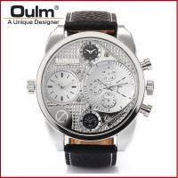 Jual Oulm Jam Tangan Analog - 9316 - Black/Silver  Murah