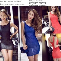 Jual S3381 Sexy Bodycon Dress Import Red Black Blue KODE YT3381 Murah