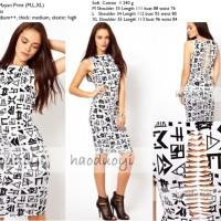 Jual S3373 Bodycon Dress Import Soft Cotton Lookboo KODE YT3373 Murah