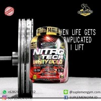 Jual nitrotech nitro tech whey gold 6lbs 6 lbs syntha 6 carnivor whey Murah