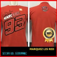 Kaos Distro Baju Drag Racing Motor MotoGP MARC MARQUEZ Lis Red Merah