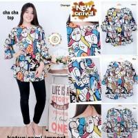 baju atasan cha cha top XL clna   fashion wanita   termurah