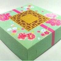 Jual Box Dus Kardus Tempat Kue Bulan Mooncake Bunga Flower Tosca Cantik Murah