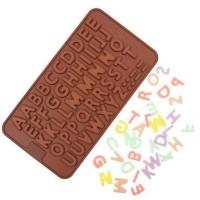 Jual Dijual Cetakan Silikon Motif Abjad Alfabet (52 Kotak) Berkwalitas Murah
