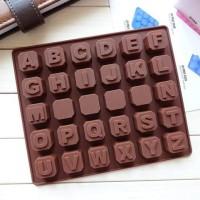 Jual Jual Cetakan Kue / Puding / Es Batu Motif Alfabet A-Z (30 Kotak) Murah