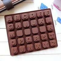 Jual Dijual Cetakan Kue / Puding / Es Batu Motif Alfabet A-Z (30 Kotak) Murah