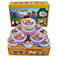 Jual Mainan Anak PASIR KINETIK PLAY SAND CETAKAN ISI 12PCS KINETIC Murah