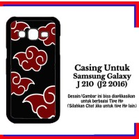 Casing Samsung J2 2016 Naruto Akatsuki Cloud Emblem Custom Hardcase