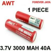 Jual Baterai Rokok Elektrik 18650 AWT 3000 Mah Compatible Kange Berkualitas Murah