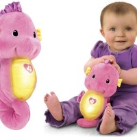 BONEKA KUDA LAUT FISHER PRICE SNUG AND GLOW SEAHORSE PINK OCT-0039