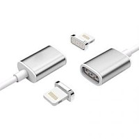 2 in 1 Kabel Charger Magnetic Micro USB & Lightning for Smartphone/Usb