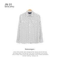 [JN 01] KEMEJA WANITA DOTBLACK LENGAN PANJANG
