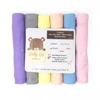 Selimut Bedong Kain Baby Qu ( warna soft ) - 6pcs / pack