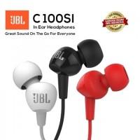 Jual JBL C100SI In - Ear Headphones with Mic - Original - Hitam Murah