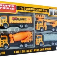 Jual Jual DIECAST CONSTRUCTION CAR 4 PCS - DIECAST SET Barang Ready Murah