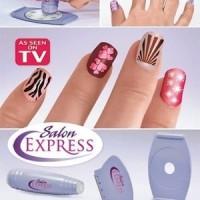 Jual New Salon Express / Nail Art Stamping Kit , Decorate Your Nails Murah