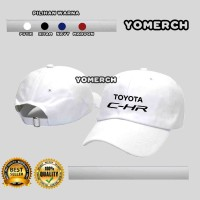 Topi Baseball Putih TOYOTA C-HR CHR Simple Kerenn Yomerch