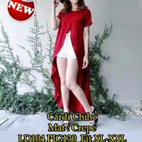 Jual [Cardi Chiho SW] cardi wanita crepe merah Murah