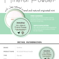 Inisfree mineral No Sebum Mineral Powder