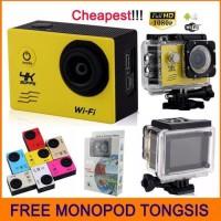 FREE TONGSIS Action Camera 4k 16MP WIFI FULL HD Seperti Kogan Xiaomi