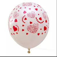 Balon Latex Love Motif Love White