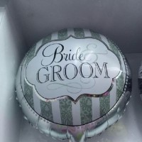 Balon Bulat Foil Bride Groom
