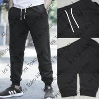 127IK Celana HnM Jogger Joggerpants Black Basic Sweatpants H&M