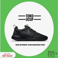 Sepatu Nike Roshe run Full black Grade ori premium Vietnam termurah