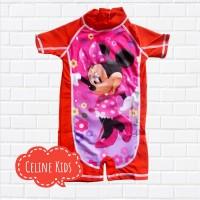 Baju Renang Anak Cewek | Perempuan Import Disney Mickey Mouse Merah