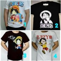 Jual Baju Anime OnePiece ( Hitam / Putih ) - Kaos Tshirt One Piece Murah
