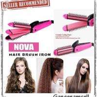 Jual Catok Nova 3in1 Iron Brush / Catokan Sisir + Keriting + Lu Berkualitas Murah