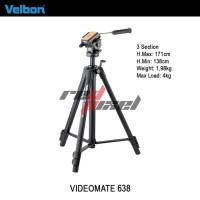 VELBON VIDEOMATE 638 ~ VIDEO FLUID HEAD TRIPOD Limited