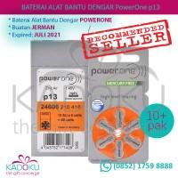 Baterai Alat Bantu Dengar Powerone 13 (1 Box Isi 10 Rol/pak)