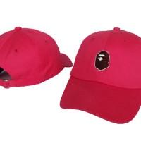topi baseball bape-bape cap original import-pink-hat