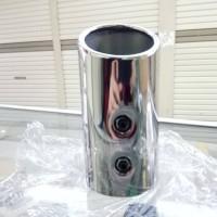 Muffler /Muffler Extention / Kenalpot Model Miring (6 CM) MOBIL BRIO
