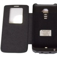 Battery Case Power Case LG G2 Flip Black 3800 mah Berkualitas