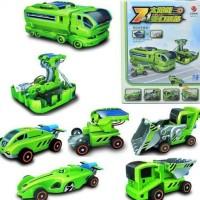 Mobil & Truk Rc Mainan 7 In 1 Solar Transformer Car Truck Power Plant