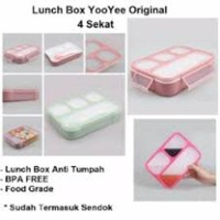 Lunch Box 4 Sekat Yooyee Grid Box Wadah Bekal Anti Tumpah Kotak Makan