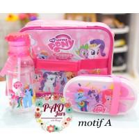 set bekal little pony / set bekal anak / set bekal / lunch box