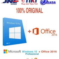 Lisensi Paket Windows 10 dan Office Pro Plus 2016 - Original